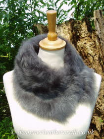 Grey Nappalan Toscana Shearling Tippet T8 Fastens with Magnets