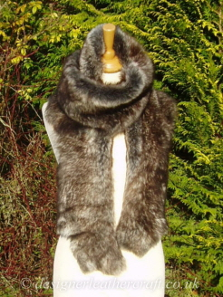 Grey Wolf Toscana Shearling Scarf  S5 77 inches long