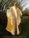 Honey Brisa Toscana Shearling Gilet 10-12 Bl23 inch