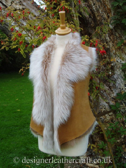 Honey Brisa Toscana Shearling Gilet