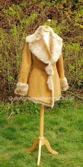 Honey Toscana Shearling Jacket 1