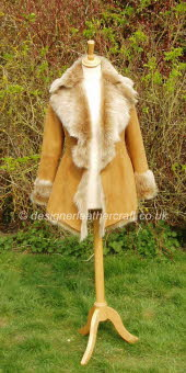 Honey Toscana Shearling Jacket 2