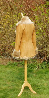 Honey Toscana Shearling Jacket 3
