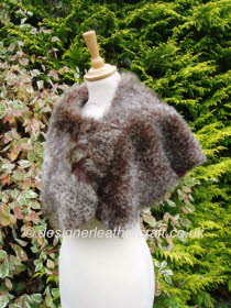 Leopard Print Toscana Shearling Wrap
