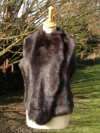 Marron Brown Shearling Gilet Reversed