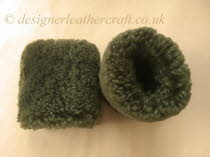 Olive Green Sheepskin Wristwarmers