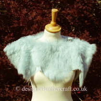 Pale Turquoise Toscana Shearling Shrug Sg4