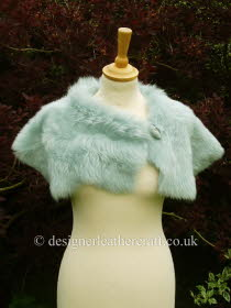Pale Turquoise Toscana Shearling Wrap