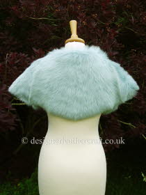 Pale Turquoise Toscana Shearling Wrap Back