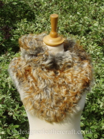 Pavone Tigrado Shearling Sheepskin  Wrap Pic 1