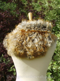 Pavone Tigrado Shearling Sheepskin  Wrap Pic 2