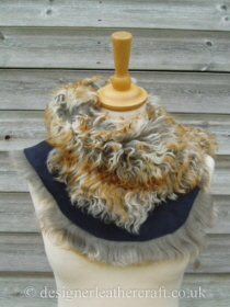 Pavone Tigrado Shearling Sheepskin  Wrap Reversed Pic 5