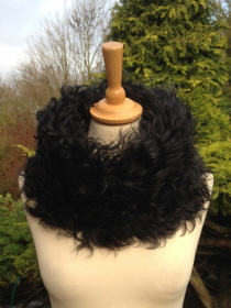 Practically Black Tigrado Shearling Snood - Medium Size