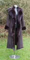 Rich Brown Toscana Shearling Coat