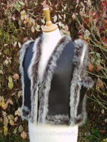 Russian Style Toscana Gilet in Brown Brisa
