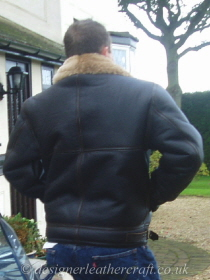 Seams of the Jacket are Taped with Soft Cowhide