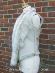Shearling Gilet in Ecru with a Nappalan Finish