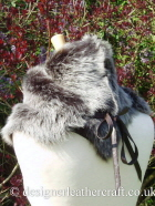 Shearling Wrap B Tied at the Neck