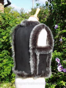 Side Back of the Russian Style Toscana Gilet in Black Brisa
