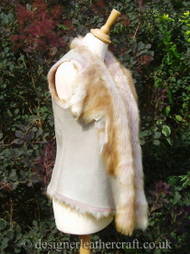 Side of the Ginger Pink Shearling Gilet
