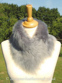 Silver Grey Toscana Shearling Tippet T4 Fastens with Magnets