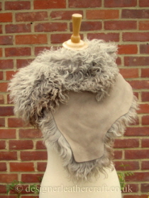 Taupe Pintos Tigrado Shearling Sheepskin  Wrap Reversed Pic 5