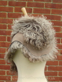 Taupe Pintos Tigrado Shearling Sheepskin  Wrap Reversed Pic 6