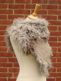 Taupe Pintos Tigrado Shearling Sheepskin  Wrap Reversed  Pic 4