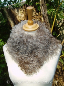 Taupe Pintos Tigrado Shearling Tippet T26 Fastens with Magnets