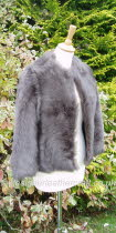 Taupe Toscana Shearling Jacket
