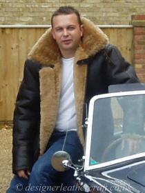 The Sheepskin Flying Jacket has Honey Colour  Wool