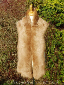 Toffee Coppertone Toscana Shearling Scarf S3 70 inches long