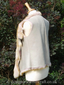 Toscana Gilet in Ginger Pink with a Pearlised Finish