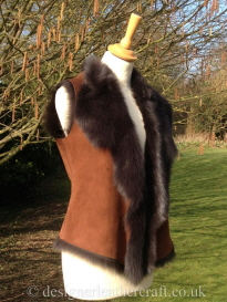 Toscana Shearling Gilet in Marron Brown 8-10 bl 20