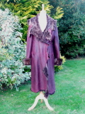 Wine and Brown Sheared Toscana Coat